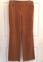 Women's Size 6 Harold's Stretchy Brown Corduroy Pants 5 Pockets Flare Legs Euc - $14.84