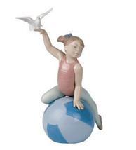 "Nib Lladro Nao Figurine #1421 ""Grace And Poise"" Gracia Y Habilidad Girl Gymnist - $123.74"