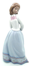 "NEW IN BOX LLADRO # 6754 ""SWEET AND SHY"" GIRL W/FLOWER PORCELAIN FIGURIN... - $222.74"