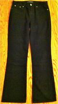 Womens Sz 4 Ralph Lauren Black Cotton & Elastine Pants 4 Pockets Belt Loops Euc - $19.98