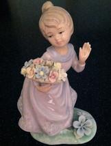 "Annie Rowe ""Summertime"" Girl Figurine Leonardo Collect'n Nib Like Lladro England - $69.29"