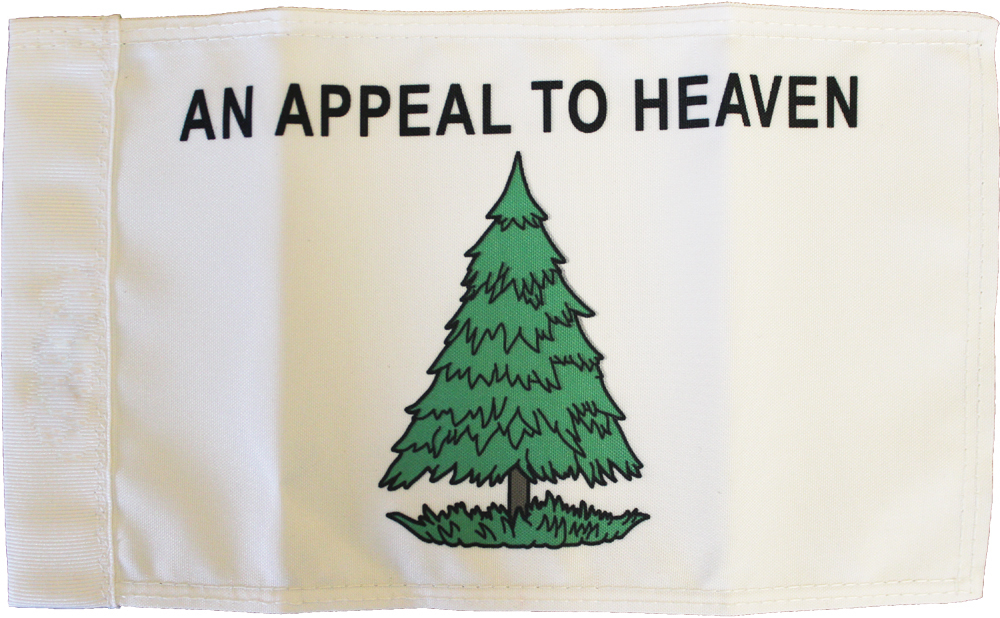 "Washington Cruisers - 5.5"" x 8.5"" Motorcycle Flag  (An Appeal to Heaven)"