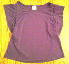 Girls Mossimo Supply Co Dressy Short Sleeve Grey Blue Knit Blouse Top Size Xs - $7.99