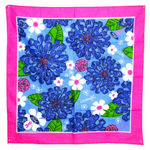 Lilly Pulitzer Floral Flowers Courage Hope Life Pink Ribbon Ford Scarf 2... - €11,26 EUR