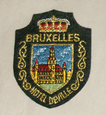 Primary image for Bruxelles Hotel Deville Embroidered Sewn World Travel Patch Free Shipping USA