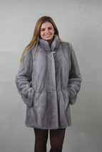 Luxury gift/saphire Mink fur coat Full Skin/Wedding,or anniversary present - $2,100.00