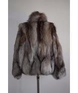 Crystal Fox Fur Coat/Fur jacket Women's/ Luxury gift/ Wedding,or anniver... - $599.00