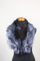 Luxury gift/Fox Fur/ Blue Collar  Women's/wedding or anniversary present - $89.00