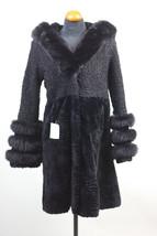 Luxury gift/ Persian Black /  nutria / Black hood fox trim nutria hood/fox cuffs - $599.00