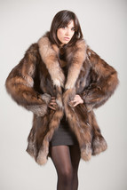 Luxury gift/Crystal Fox Fur Coat/Fur jacket Women's/ Wedding,or annivers... - $699.00