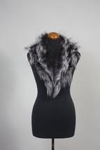 Luxury gift/Silver  color Fox Fur Collar  Women's/wedding or anniversary... - $89.00