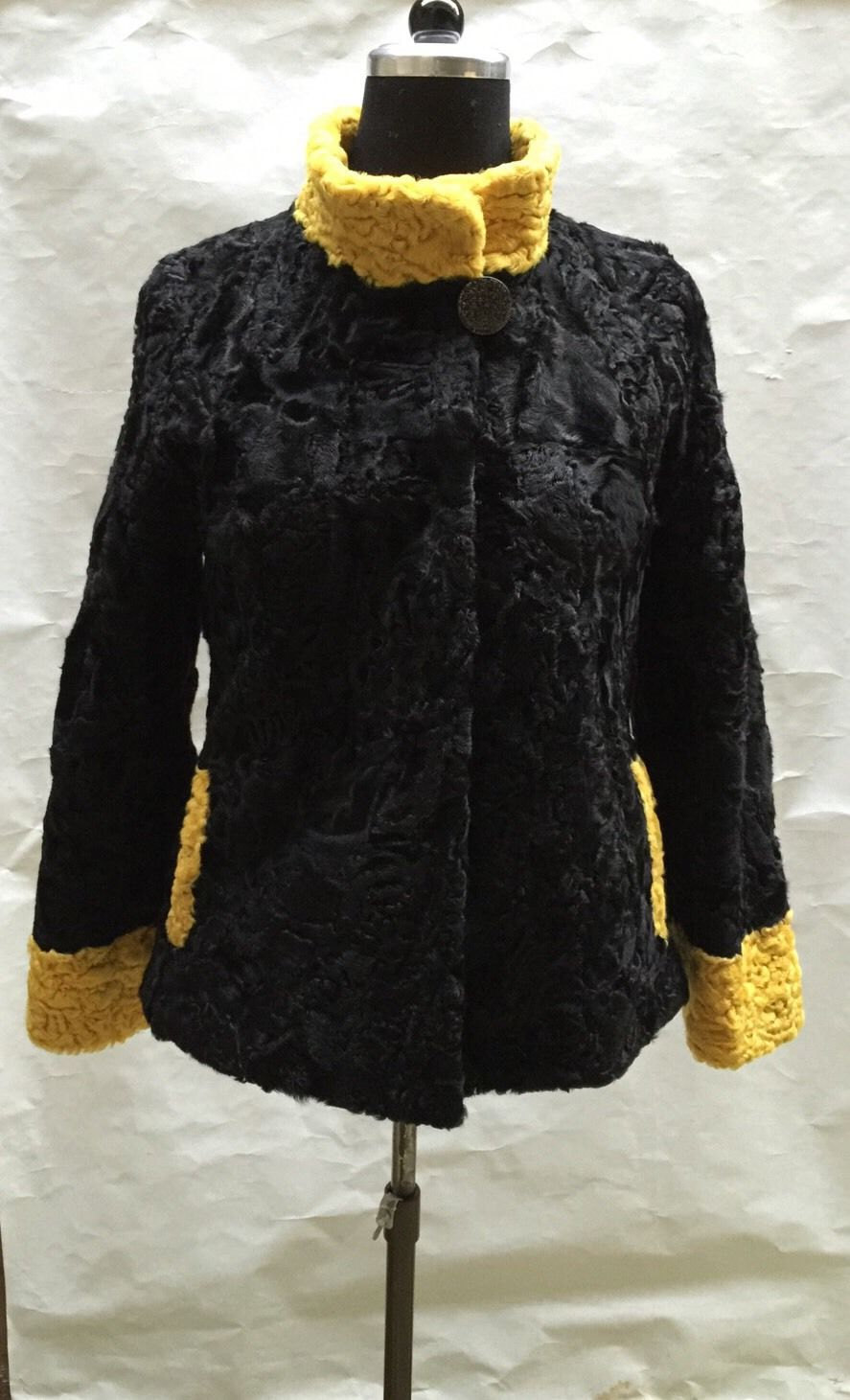 Luxury gift/ Persian karakul Astrakhan Fur jacket/ Fur coat/ Wedding,or annivers image 1