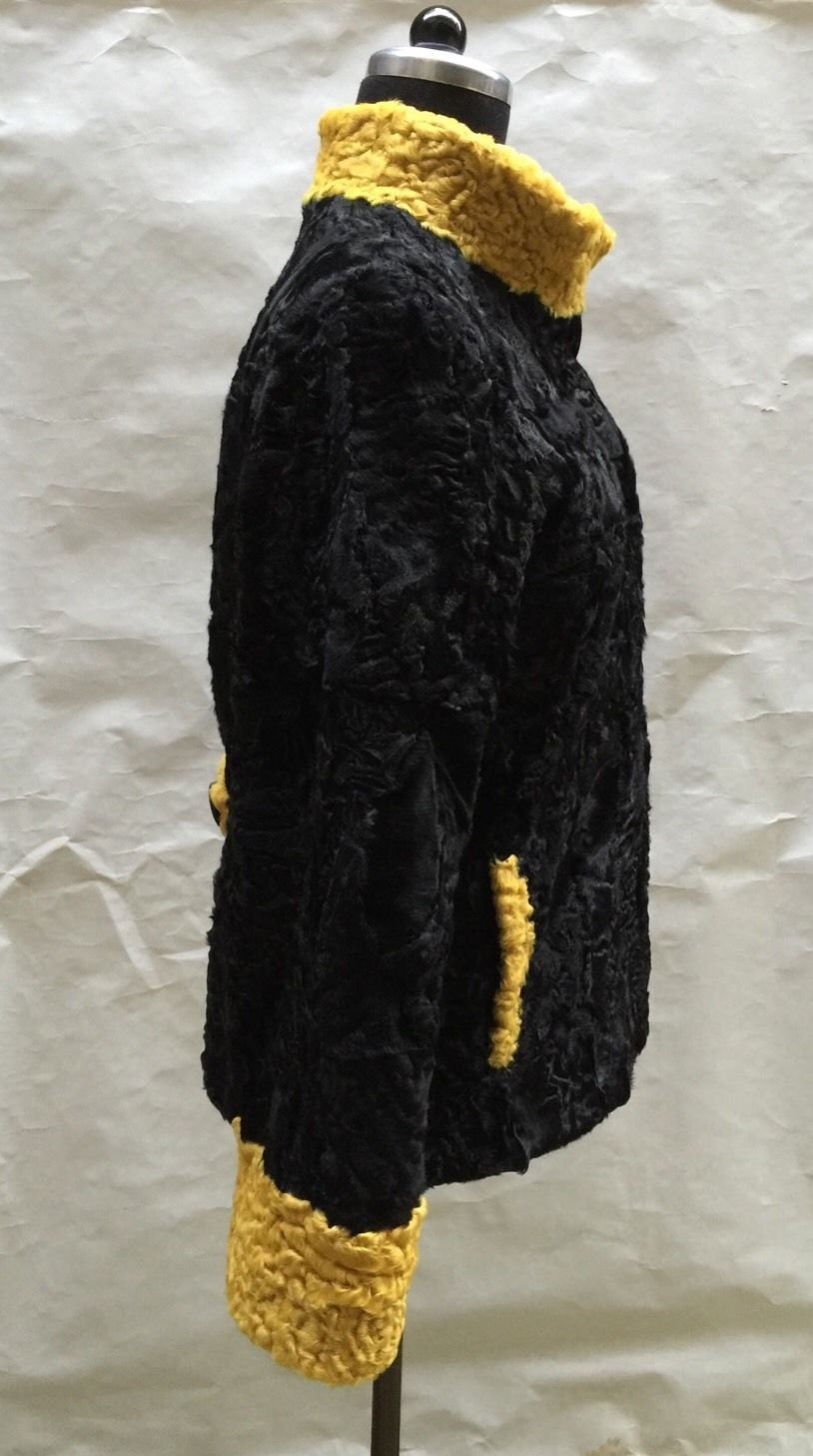 Luxury gift/ Persian karakul Astrakhan Fur jacket/ Fur coat/ Wedding,or annivers image 2