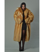 Luxury gift/Red Fox Fur Coat/Fur jacket/ Women's Knee Length/ Wedding,or... - $1,700.00