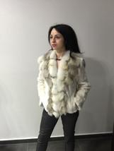Luxury gift/ Golden mink fur coat/ Fur jacket with fox collar/ Wedding,or annive image 1