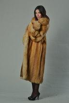 Luxury gift/Red Fox Fur Coat/Fur jacket/ Women's Knee Length/ Wedding,or anniver image 2