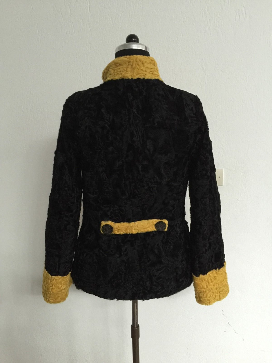Luxury gift/ Persian karakul Astrakhan Fur jacket/ Fur coat/ Wedding,or annivers image 4