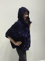 Luxury gift/ Mink fur Cape Black Collar hood/ Wedding,or anniversary present/ ho image 3