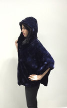 Luxury gift/ Mink fur Cape Black Collar hood/ Wedding,or anniversary present/ ho image 4