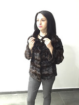 Luxury gift / sectional brown Mink fur coat / Fur jacket / Wedding,or anniversar image 1