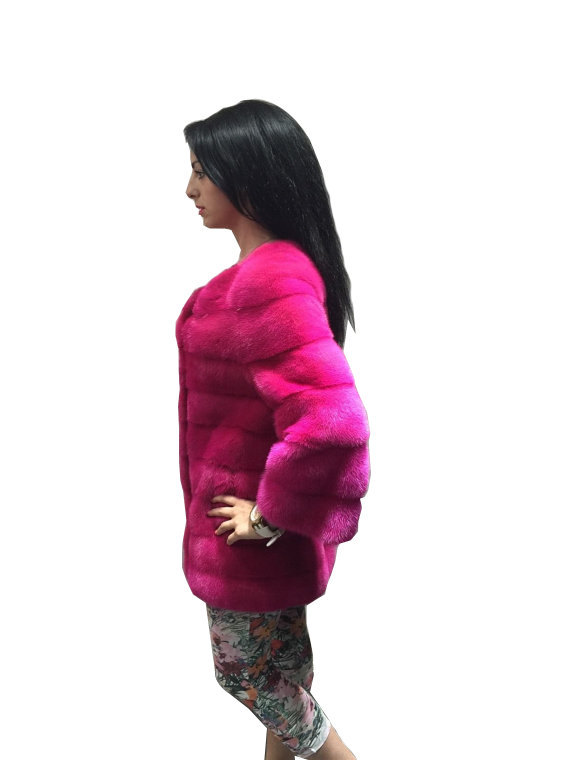 Luxury gift / Pink Mink fur coat/ Fur jacket Full skin / Wedding,or anniversary  image 2