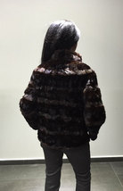 Luxury gift / sectional brown Mink fur coat / Fur jacket / Wedding,or anniversar image 2