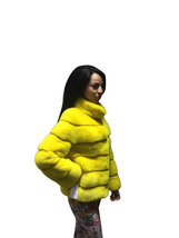 Luxury gift / Yellow Mink fur coat/ Fur jacket Full skin / Wedding,or anniversar image 2