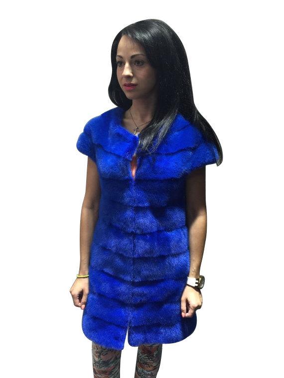 Luxury gift / Blue Mink fur coat/ Fur jacket Full skin / Wedding,or anniversary