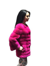 Luxury gift / Pink Mink fur coat/ Fur jacket Full skin / Wedding,or anniversary  image 3