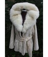 Luxury gift/ Pearl Beaver Fur Coat/Fur jacket Cobra Hood/Wedding,or anni... - $600.00