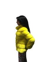 Luxury gift / Yellow Mink fur coat/ Fur jacket Full skin / Wedding,or anniversar image 3