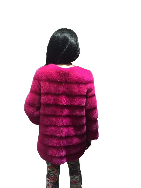 Luxury gift / Pink Mink fur coat/ Fur jacket Full skin / Wedding,or anniversary  image 4