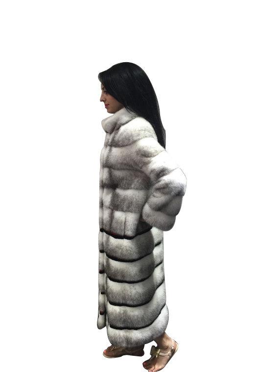 Luxury gift/ Mink  Black Cross Full skin   Fur coat/Fur jacket/Hooded/Wedding,or image 3