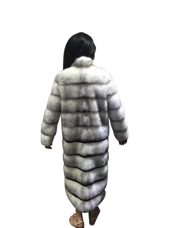 Luxury gift/ Mink  Black Cross Full skin   Fur coat/Fur jacket/Hooded/Wedding,or image 4