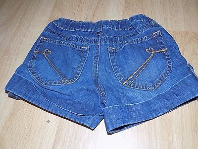 Primary image for Size 6X-7 The Children's Place Denim Blue Jean Cuffed Link Shorts Dark EUC