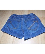 Size 6X-7 The Children's Place Denim Blue Jean Cuffed Link Shorts Dark EUC - $12.00