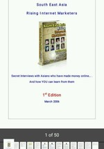 South East Asia Rising Internet Marketers Online Book - $3.95