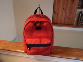 Authentic Coach 34855 Red Bandit Tiny Dot Canvas Small Backpack RARE! NW... - $158.39