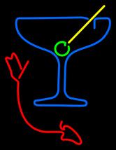 "Martini Glass With Arrow Neon Sign 16"" x 16"" - $799.00"