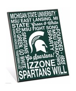 """Michigan State Spartans Phrases Premium 8"""" x 10"""" Solid Wood Easel Sign - $9.95"""