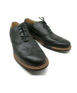 Cole Haan Mens Black Wing Tip Lace up Oxfords Size 11.5 M Excellent Cond... - $49.15