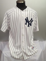 New York Yankees Jersey - By Majestic - Home White Pin Stripe - Mens Ext... - $85.00