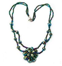 Handmade Guatemalan Green Cluster Pendant Mixed... - $23.95