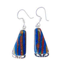 Navajo Rainbow Calsilica Dangle Earrings - $53.46