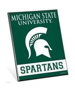 """Michigan State Spartans Logo Premium 8"""" x 10"""" Solid Wood Easel Sign - $9.95"""
