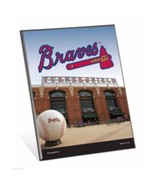"MLB Atlanta Braves Stadium Premium 8"" x 10"" Solid Wood Easel Sign - $9.95"