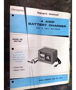 Sears Owner's Manual, 4 Amp Battery Charger, Model 608.71561 - $4.99