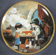 The Carpenter Shop Collector Plate Precious Moments Bible Story Sam Butcher - $16.95