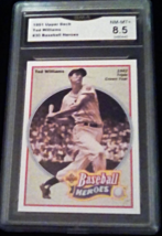 1992 Upper Deck Ted Williams GMA Graded 8.5 NM-MT+ Heroes Baseball card 30 - $9.99