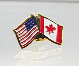 United States Canada Friendship Flag Lapel Pin  - $4.99